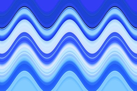 Abstract of horizontal waves in shades of blue for decoration and background