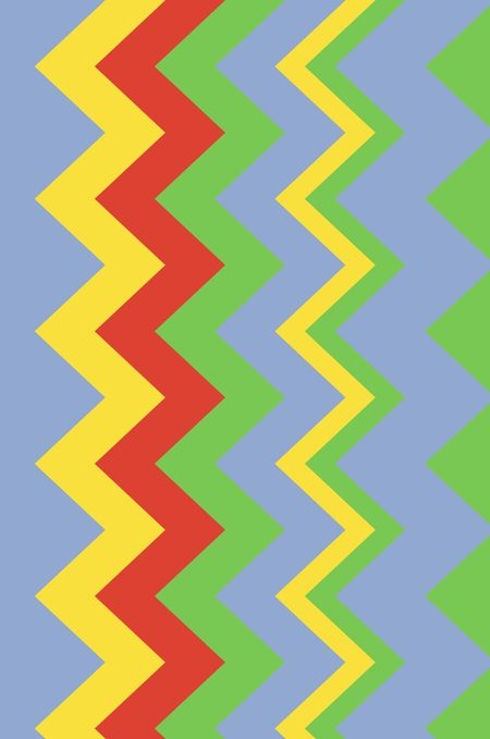 Bright four-color background of zigzags with art deco motif