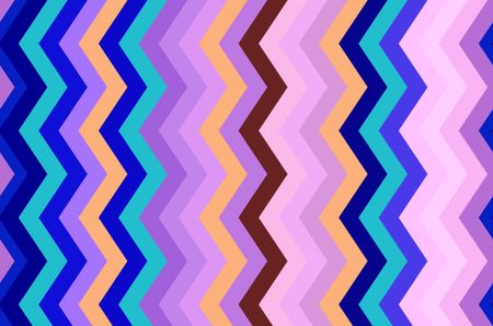 Varicolored geometric pattern of contiguous vertical zigzag stripes for decoration and background with motifs of repetition, variation, synergy