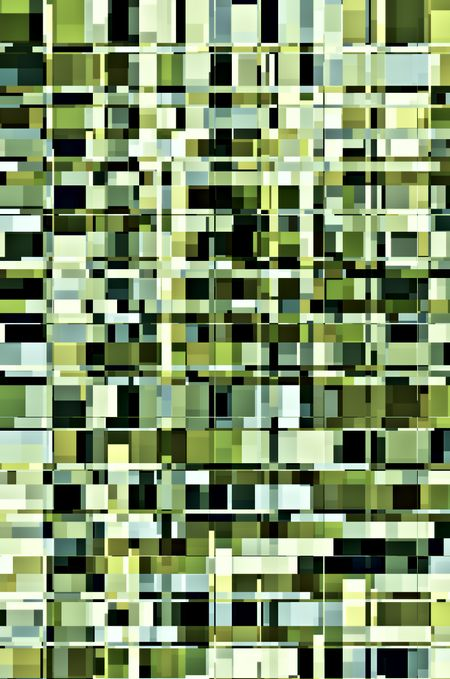 Kaleidoscopic abstract mosaic of squares and rectangles that contain squares and rectangles, for decoration and backgrounds with architectural and urban themes of variation, density, arrangement