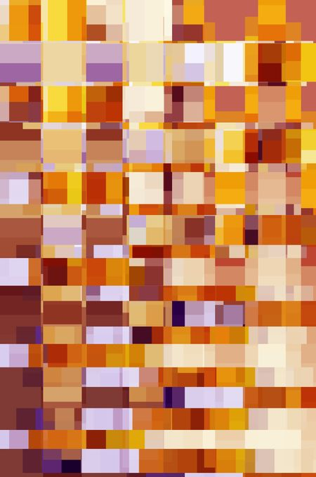 Multicolored mosaic abstract of many rectangles and squares of various sizes, with tropical tones, for decoration and background with motifs of multiplicity and urban layout