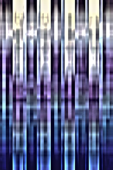 Geometric abstract of parallel vertical stripes with motion blur, like futuristic cobalt towers with surreal symmetry