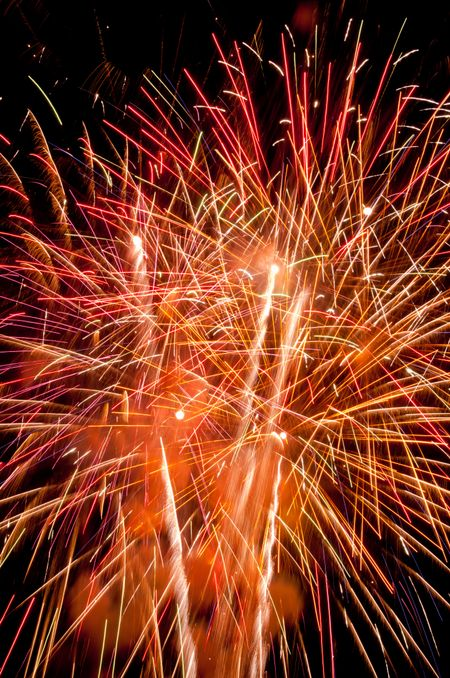 Frenzied finale of fireworks display
