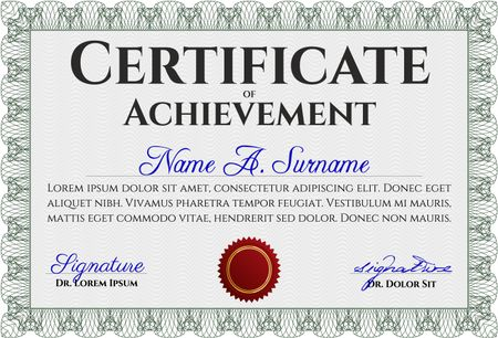 Green Classic Certificate template Money Pattern design With great