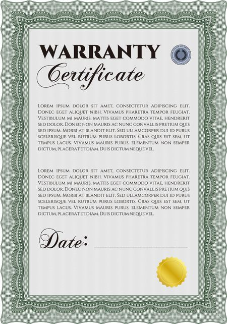Sample Warranty Certificate Template Elegant Design With