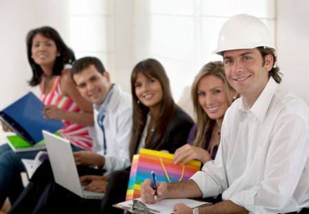 Group of people with different professions and occupations