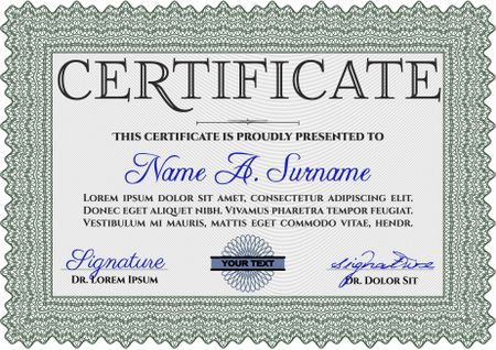 Certificate template. Customizable, Easy to edit and change colors ...