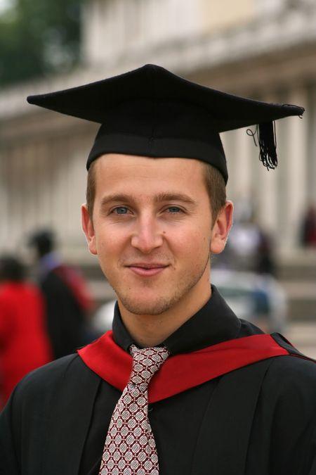 portrait of a university graduate