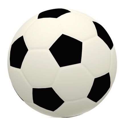3D black and white football isolated - sports concepts