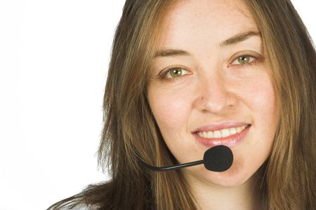 business / customer services representative with a headset