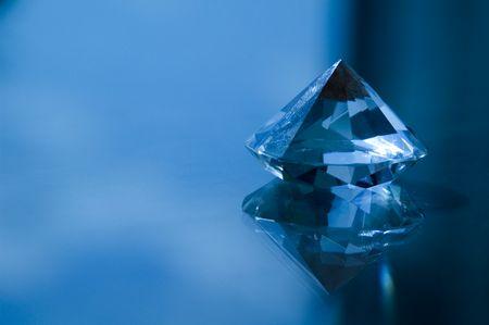 Anniversary crystal on tabletop