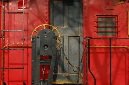 Rear of old caboose