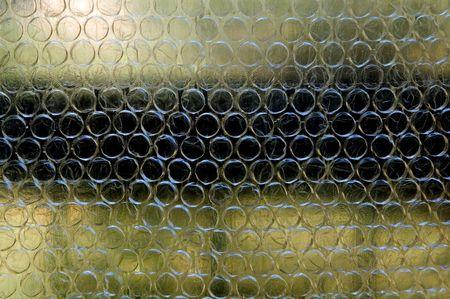 Balcony seen through bubblewrap