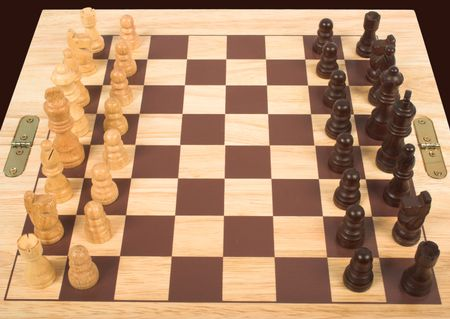 chess set from the top