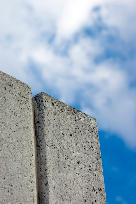 Concrete wall and sky