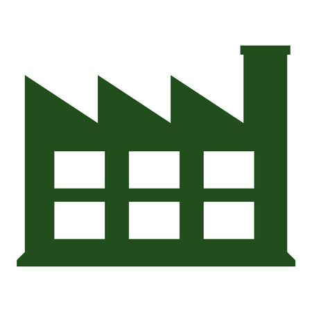 Vector Illustration of Industry Icon in Green | Freestock ...