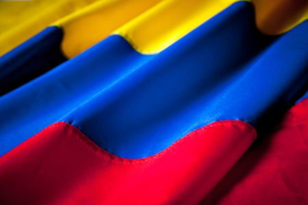 Picture of the Colombian flag with wavy texture