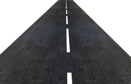 road made in 3d isolated over a white background