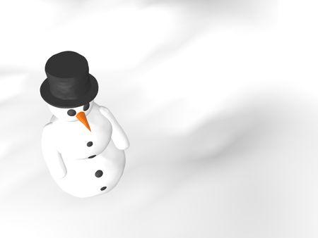 over white snow man