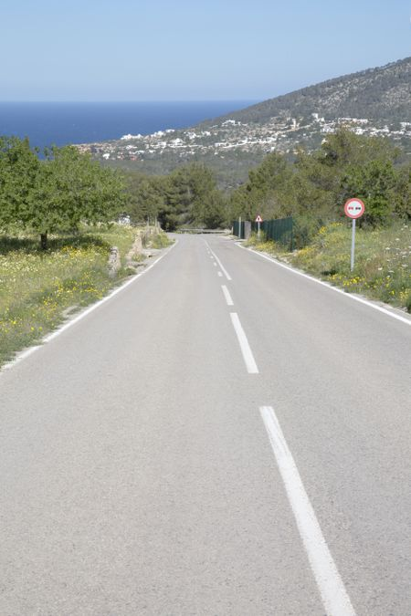 Open Road near Hort Beach; Ibiza; Spain