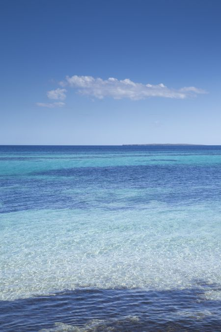 Formentera Island from Ibiza; Spain