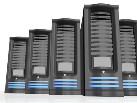 busineses servers over a white background