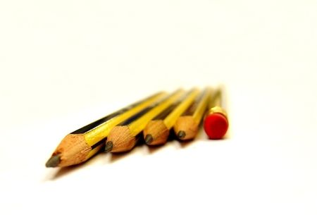 Pencils Isolated from background (Macro)