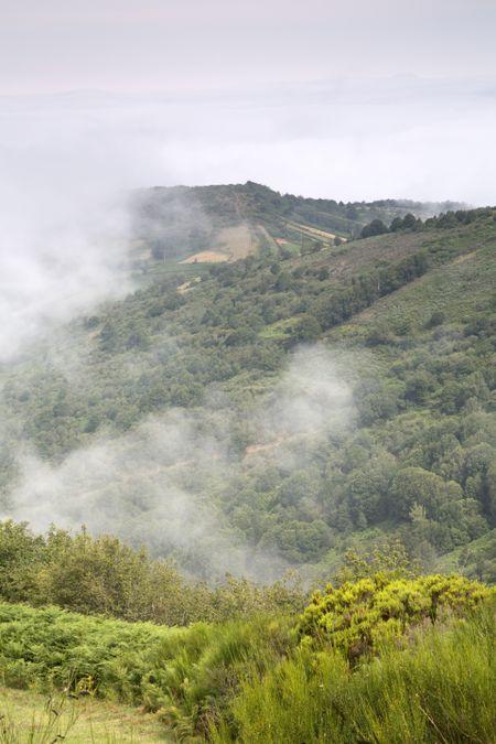 Mist on Hills at O Cebreiro, Galicia, Spain