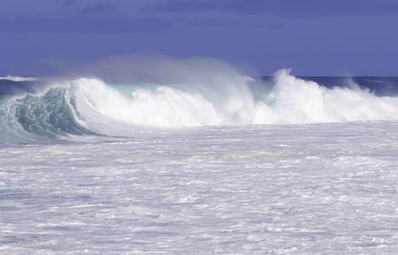 Breaking surf on North Shore of Oahu