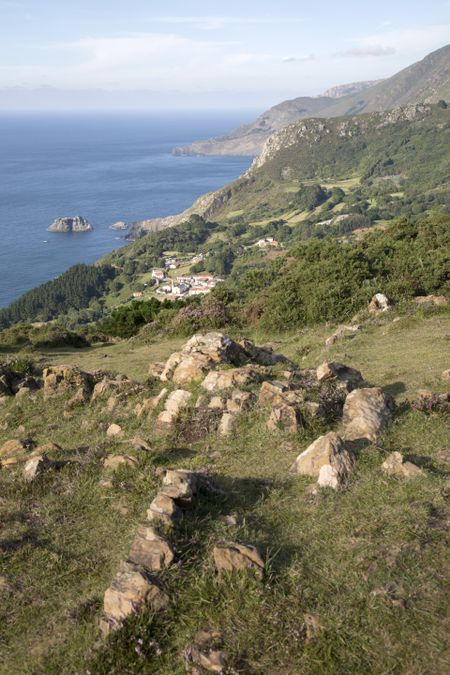 View of Teixido Village; Spain;