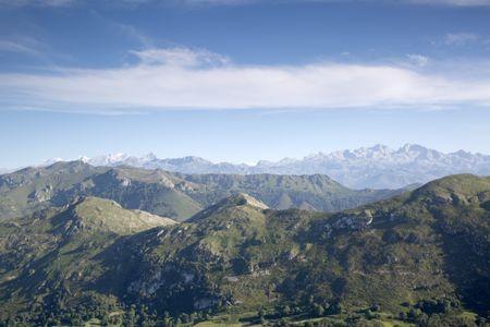 Picos de Europa Mountains from Alto del Torno; Spain