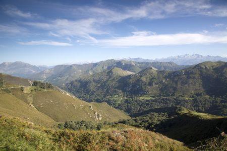 Picos de Europa Mountains from Alto del Torno, Spain