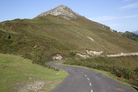 Road in Picos de Europa Mountain Range; Alto del Torno; Spain