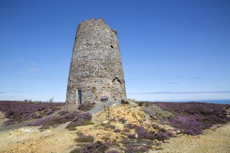 Tower of Parys Mountain Copper Mine; Amlwch; Anglesey; Wales; UK