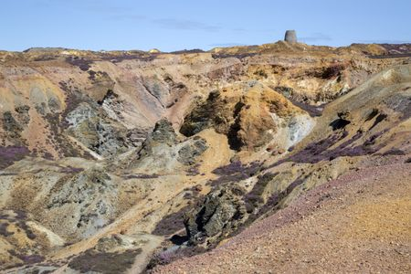 Parys Mountain Copper Mine; Amlwch; Anglesey; Wales; UK