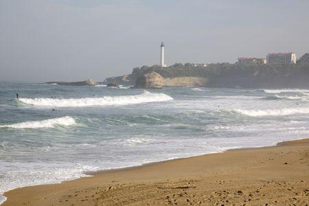 Sufer on Beach; Biarritz; France
