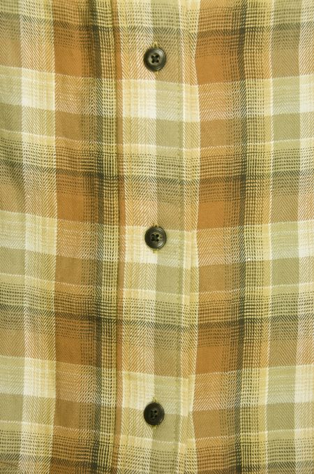Crisscross pattern of men's flannel shirt