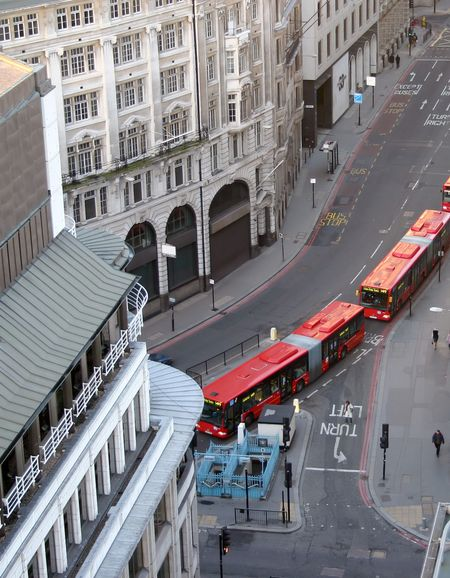 London Buses in the City Centre