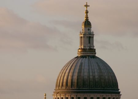 St Pauls Cathedral's Dome Close Up