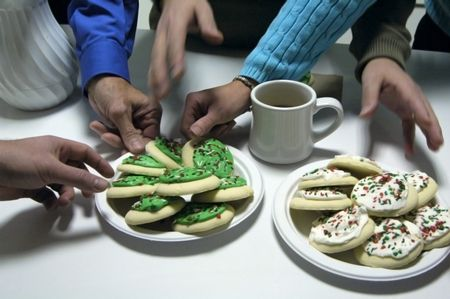 Hands reaching for cookies - SOME NOISE