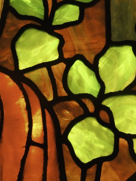 Macro of stained glass window