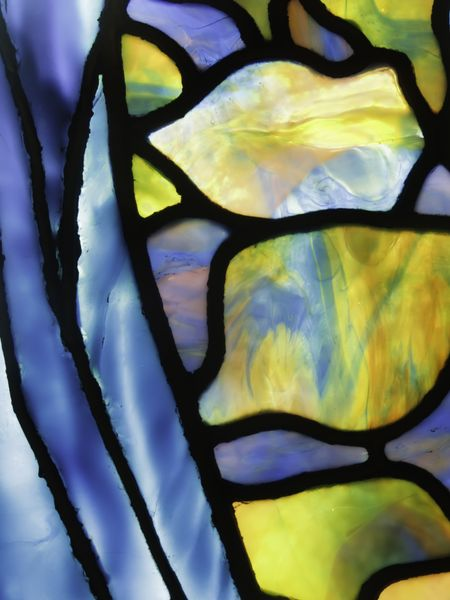 Fine detail of stained glass window