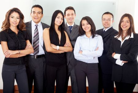 friendly and young group of business entrepreneurs in an office environment