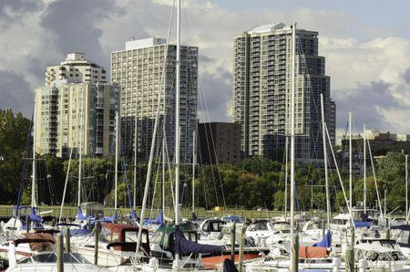 Lakefront skyline of Milwaukee near end of September