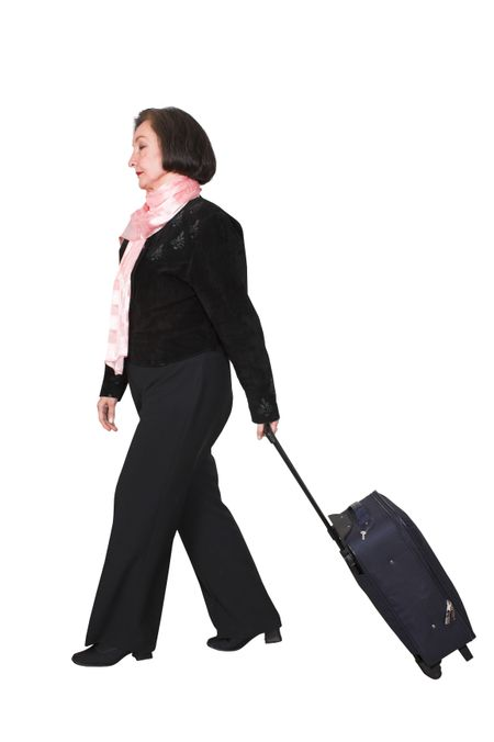 business travel over white