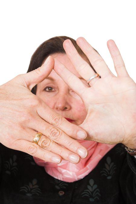 business hands frame focus on hands