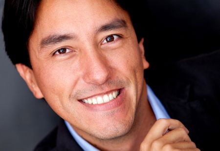 Close up portrait of a business man smiling