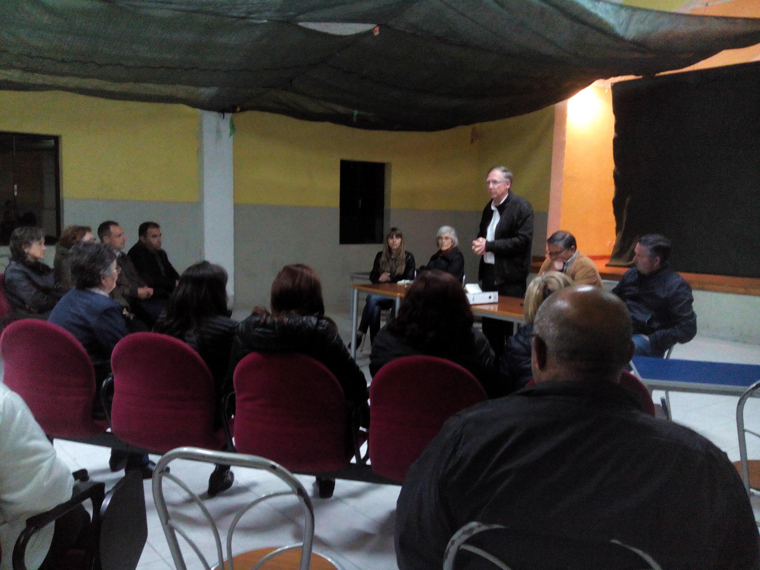 Reunião com/na povoação dos Galegos