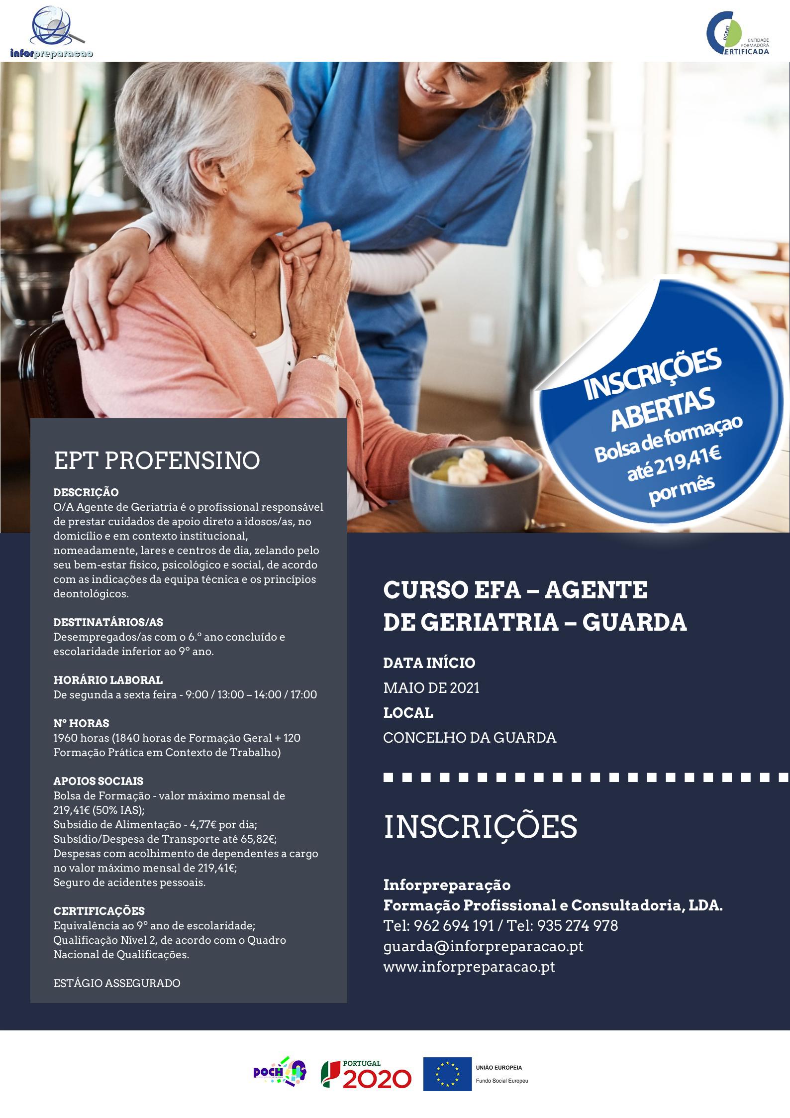 CURSO EFA – AGENTE DE GERIATRIA