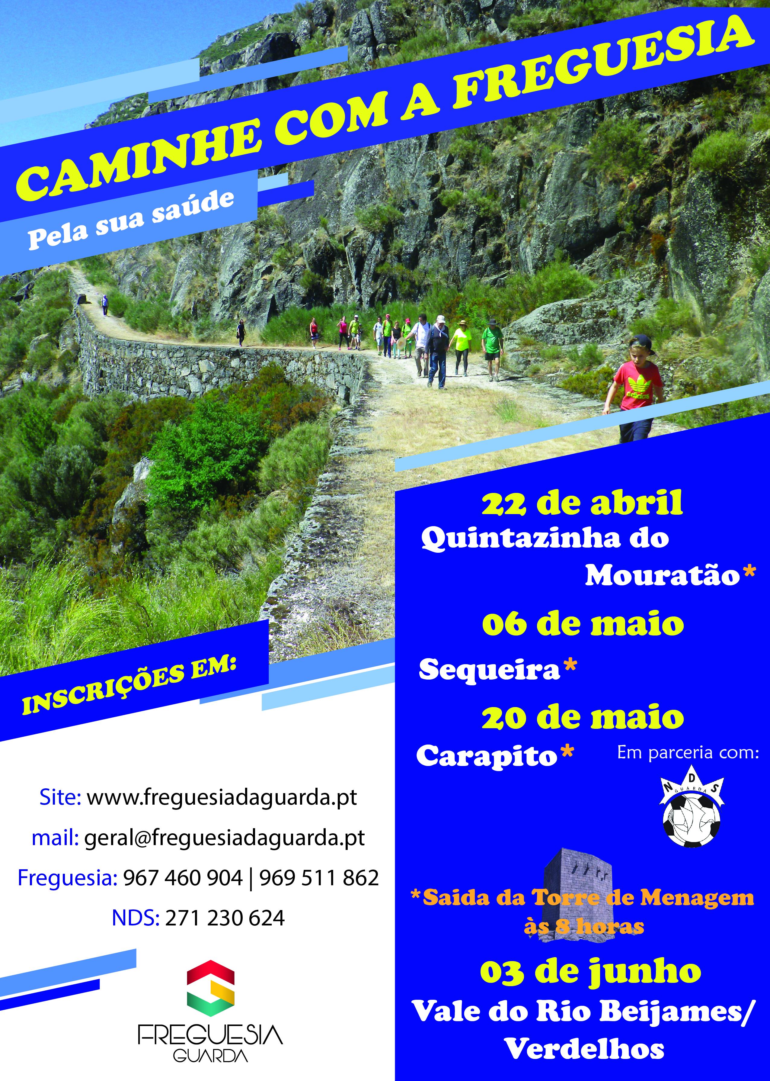 """Programa """"Caminhe com a Freguesia"""" - 2018"""